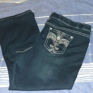 Apt. 9 Bling Pockets Bootcut Jeans 22 Short